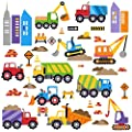 City Construction Decorative Peel & Stick Wall Art Sticker Decals