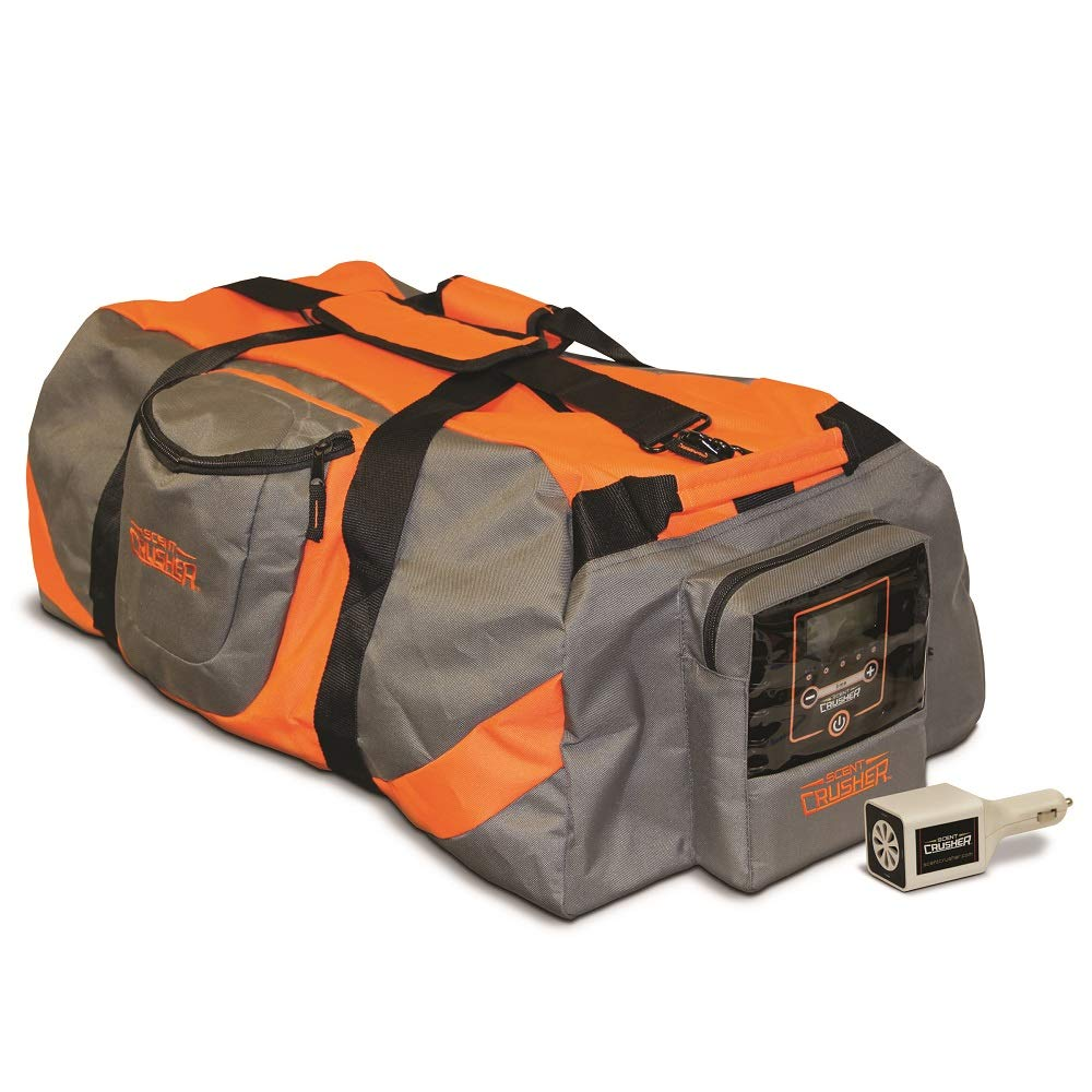 Scent Crusher Gray & Orange Gear Bag with Ozone Generator – Bonus Pack Ozone Go Included