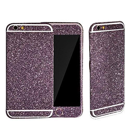 FAS1 Diamond Sparkling Body Bling Glitter Sticker Skin Film Case For Apple iphone 5G 5S (Purple)