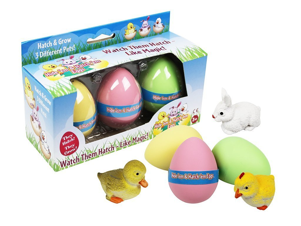 hide and grow Easter eggs