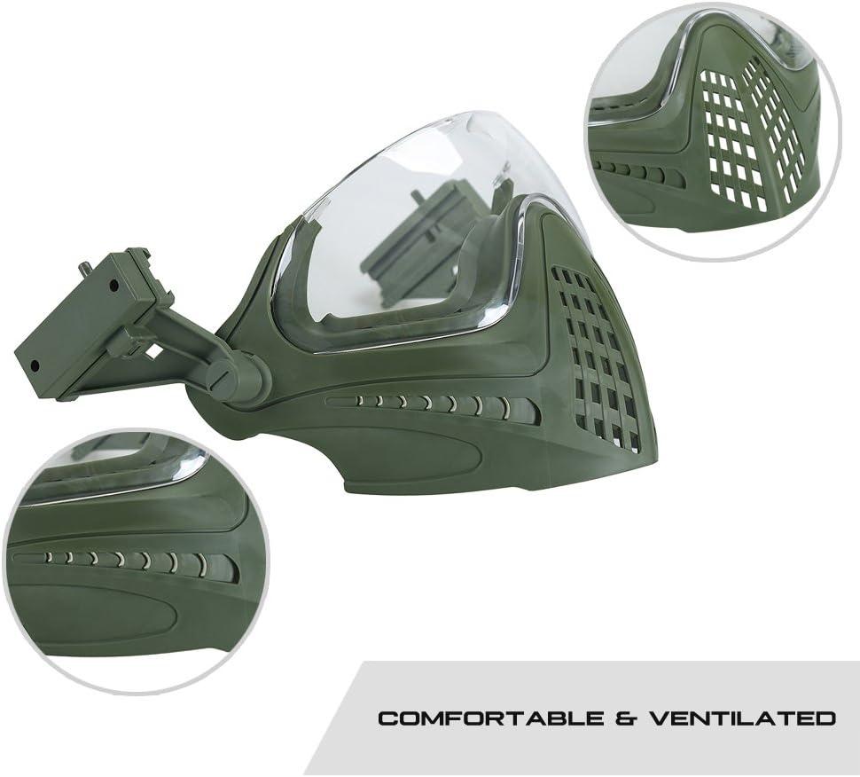 OneTigris t/áctica Integrado Casco F22/con Desmontable Cara m/áscara y Gafas