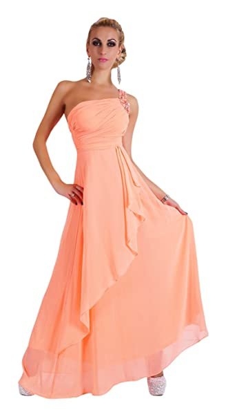 Cocktailkleid lang apricot