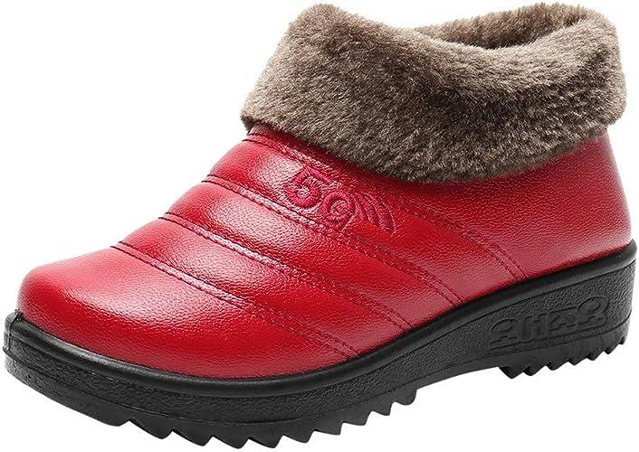 JOIMINGD Damen Winter Ankle Bare Boots Warme Trekkingschuhe