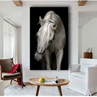 MMLZLZ Decorative Paintings Decoración Animales Arte de la Pared Negro Blanco Caballo Vaca Perros Impresión de póster en…