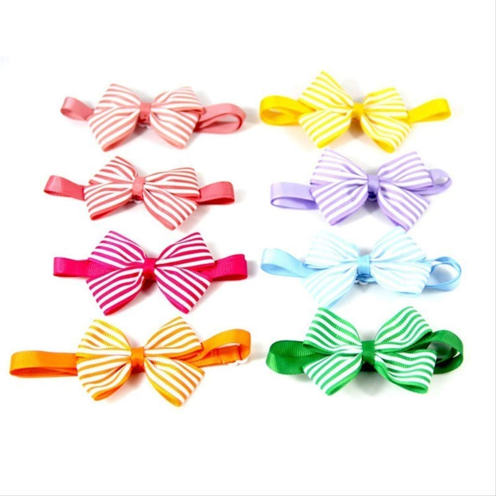 100PCS Pack Pets 12 colors Fashion Cute Dog Puppy Cat Kitten Pet Toy Kid Solid Bow Tie Necktie Clothes