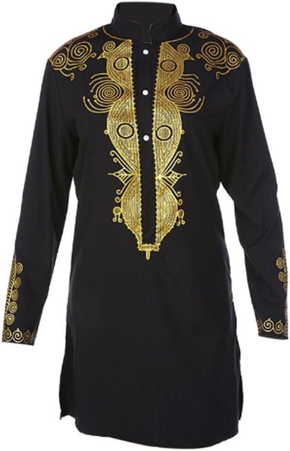 Hzjundasi Hombre Africano Nación Vestir Disfraz Tribal Camisas ...