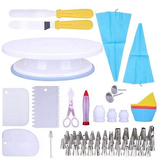 Womdee - Tocadiscos para decoración de tartas, 75 piezas, con ...