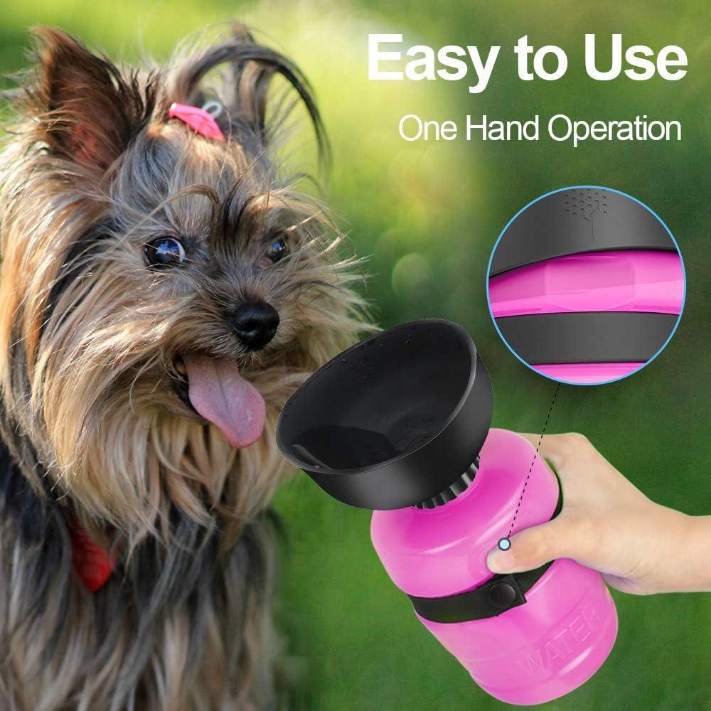 Zellar Tragbare Hundewasserflasche Faltbare Haustierflasche Auslaufsichere Haustier Trinkflasche Leichte Reise Wasserflasche Für Hunde Und Katzen Faltbare Auto Hundeflasche Baumarkt