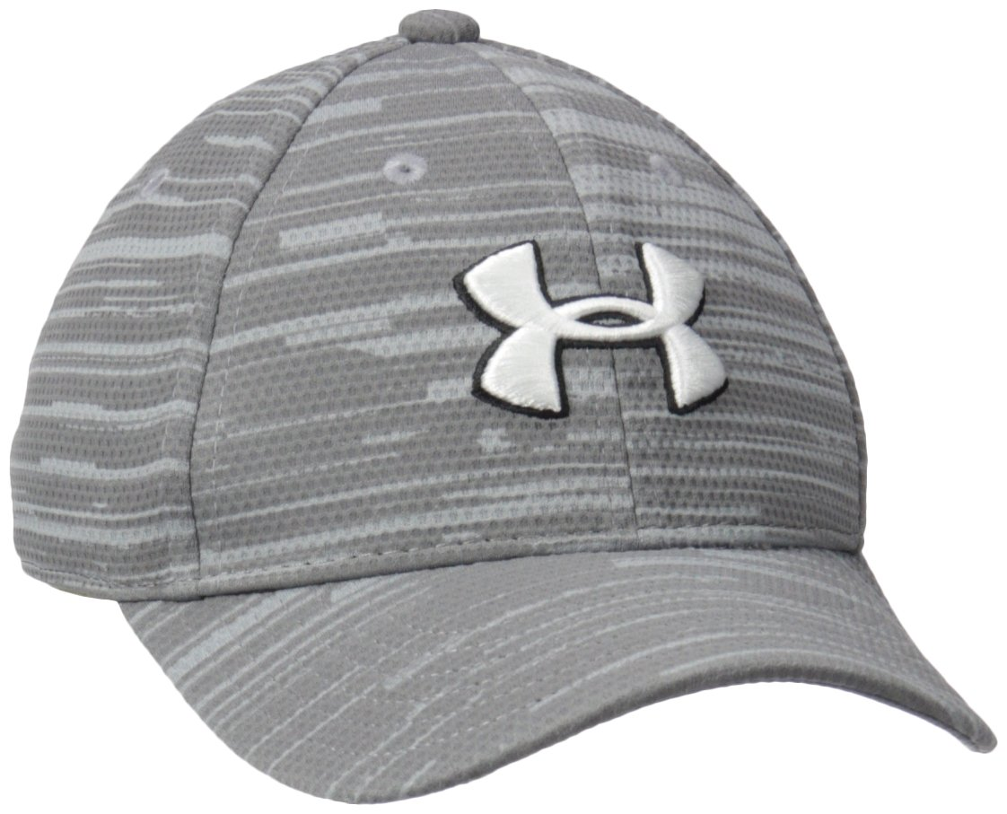 Under Armour Boys' Big Printed Blitzing Upd Hat, Steel 4-6