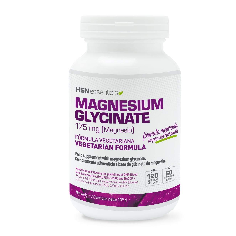 Glicinato de Magnesio de HSN Essentials– 350mg de Magnesio de Alta Biodisponibilidad - Suplemento para proteger los huesos, reducir el cansancio y ...