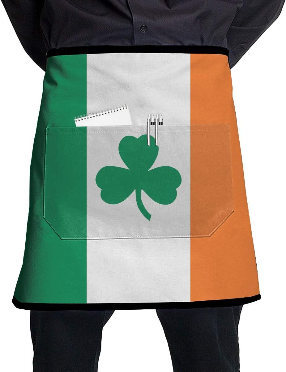 Qty 9 New Irish Green Half Bistro Apron