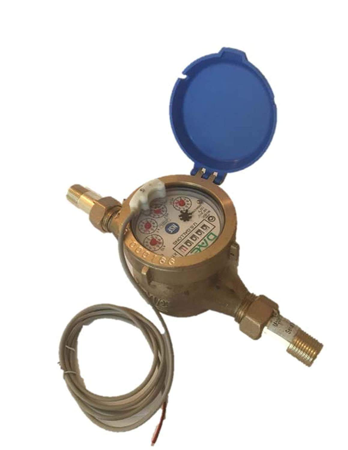 DAE MJ-50 Lead Free Potable Water Meter, 1/2