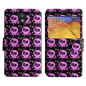 LEOCASE Pink Skull Funda Carcasa Cuero Tapa Case Para Samsung Galaxy Note 3 N9000 No.1001877