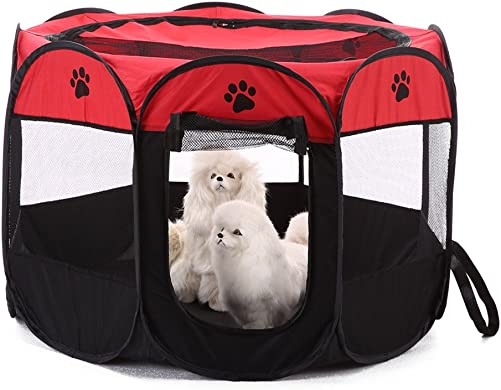 MaruPet Pet Gear Travel Lite Octagon Pet Pen with Removable Top for Cats and Dogs