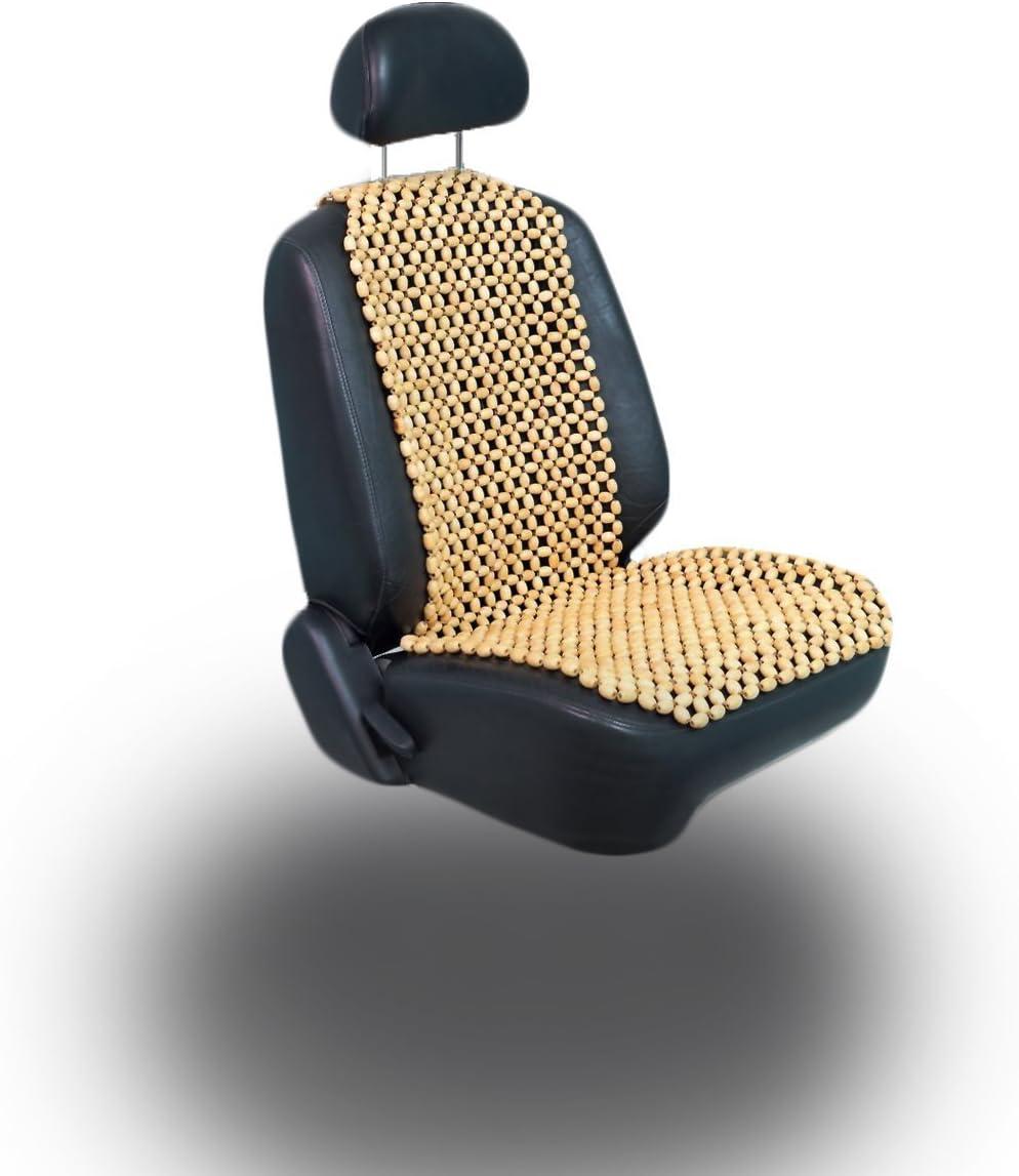 lacy wood 2 St/ück Holzkugel Holzperlen Massage Sitzauflage Sitzbezug Sitzmatte Sitzaufleger