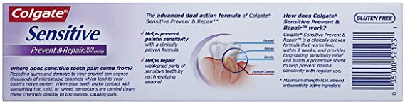 Amazon Com Colgate Sensitive Prevent And Repair Toothpaste 6