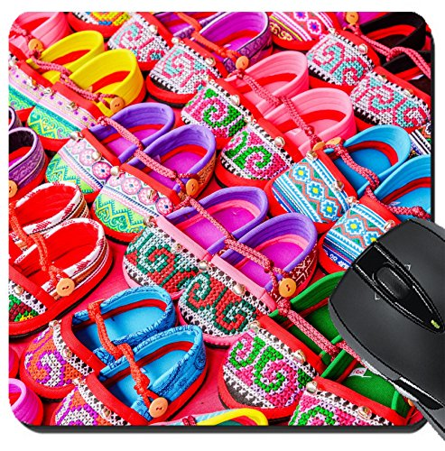 MSD Suqare Mousepad 8x8 Inch Mouse Pads/Mat design 34813799 Hand made baby shoes on red (959 Shoes)