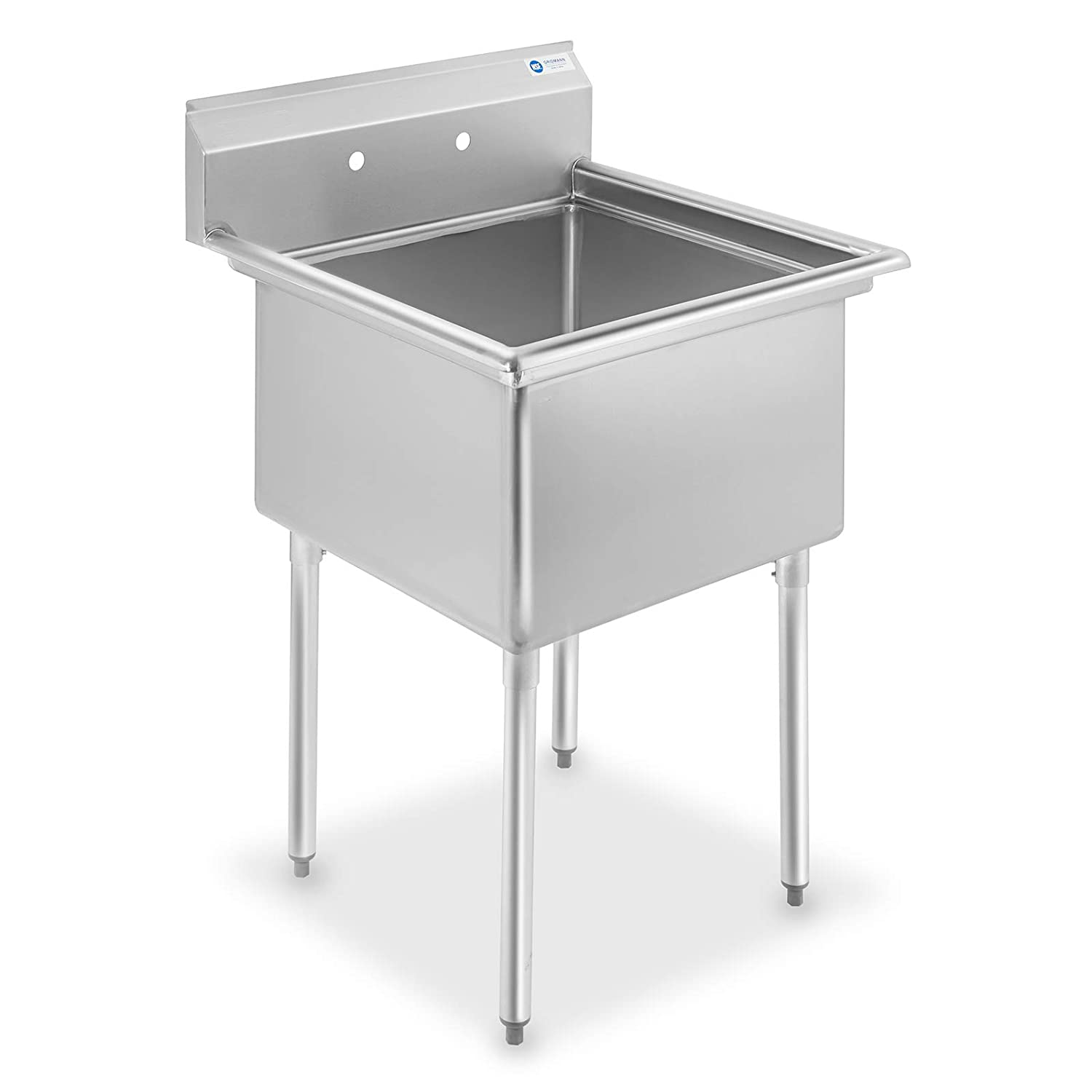 - Amazon.com: GRIDMANN 1 Compartment NSF Stainless Steel Commercial