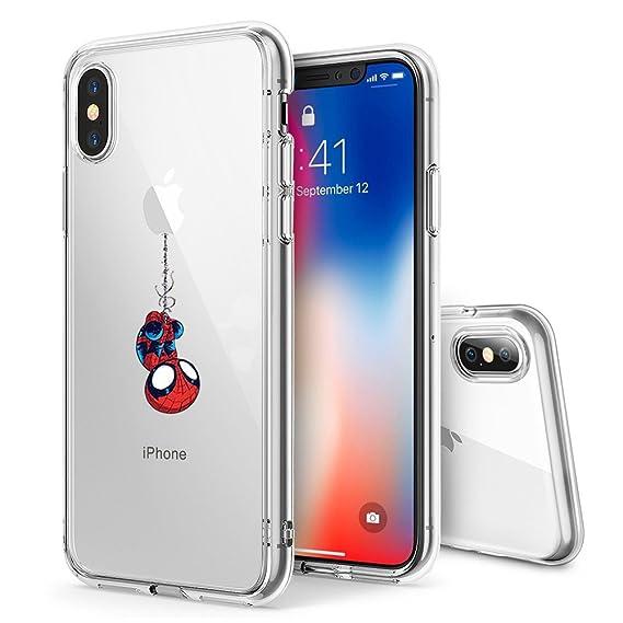 13b165af98ff2 Litech™ Case for Apple iPhone Xs MAX (2018) [Flexfit] Comic Super Hero  Inspired Series [Premium Scratch-Resistant] (Spider Man)