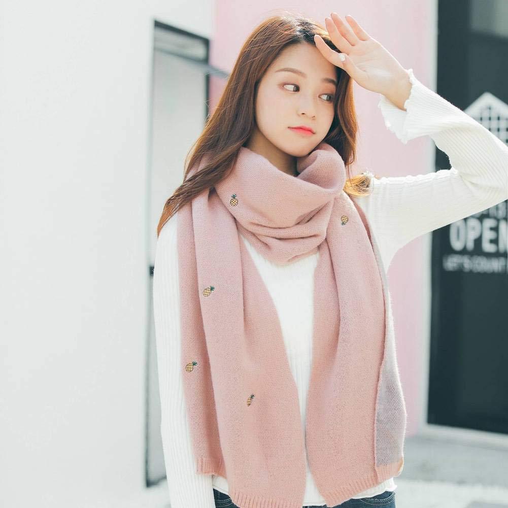 Katylen-scarf Giappone e Corea Del Sud Dolce e Pura Colore Delle Donne Caldo Monocromatico Sciarpa Lunga Autunno e Inverno AllAperto Multi-Funzione Moda Tendenza Selvaggio Scialle Caldo Sciarpa Regalo Nero