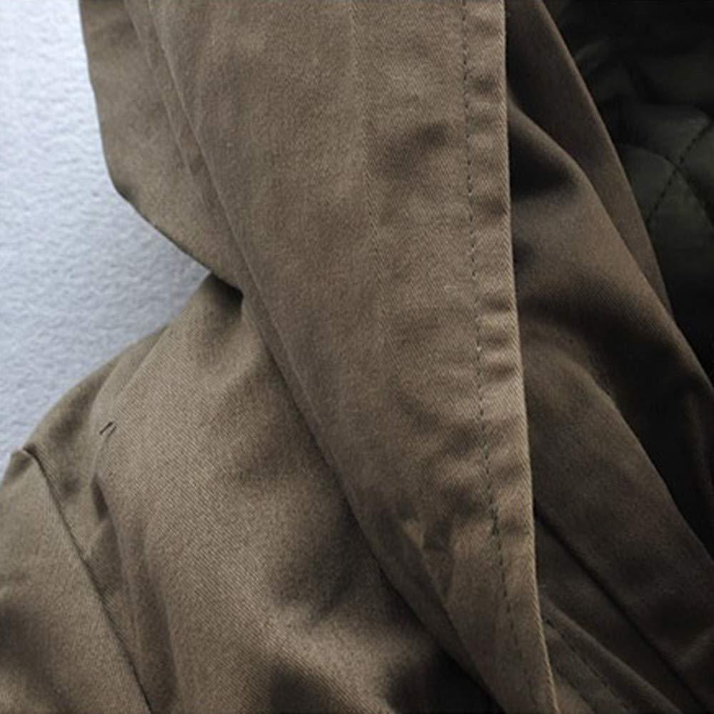 Allywit Mens M-6XLFleece Lined Winter Hooded Collar Parka Jacket Coat Oversize