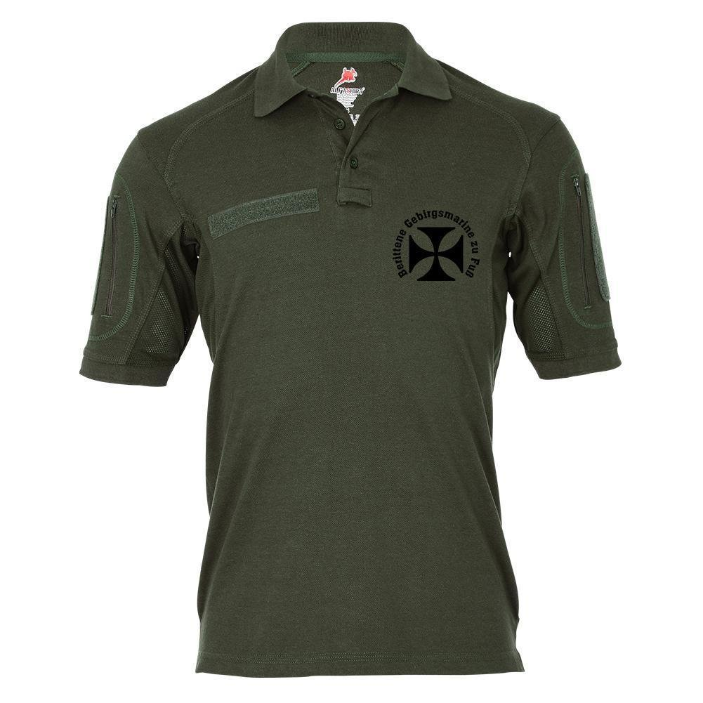 Tactical Poloshirt Alfa - Berittene Gebirgsmarine zu Fuß EK Wk1 Humor Fun  19074