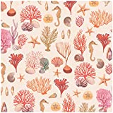 Jillson Roberts 6-Roll Count Premium Gift Wrap Available in 19 Different Designs, Coral Reef