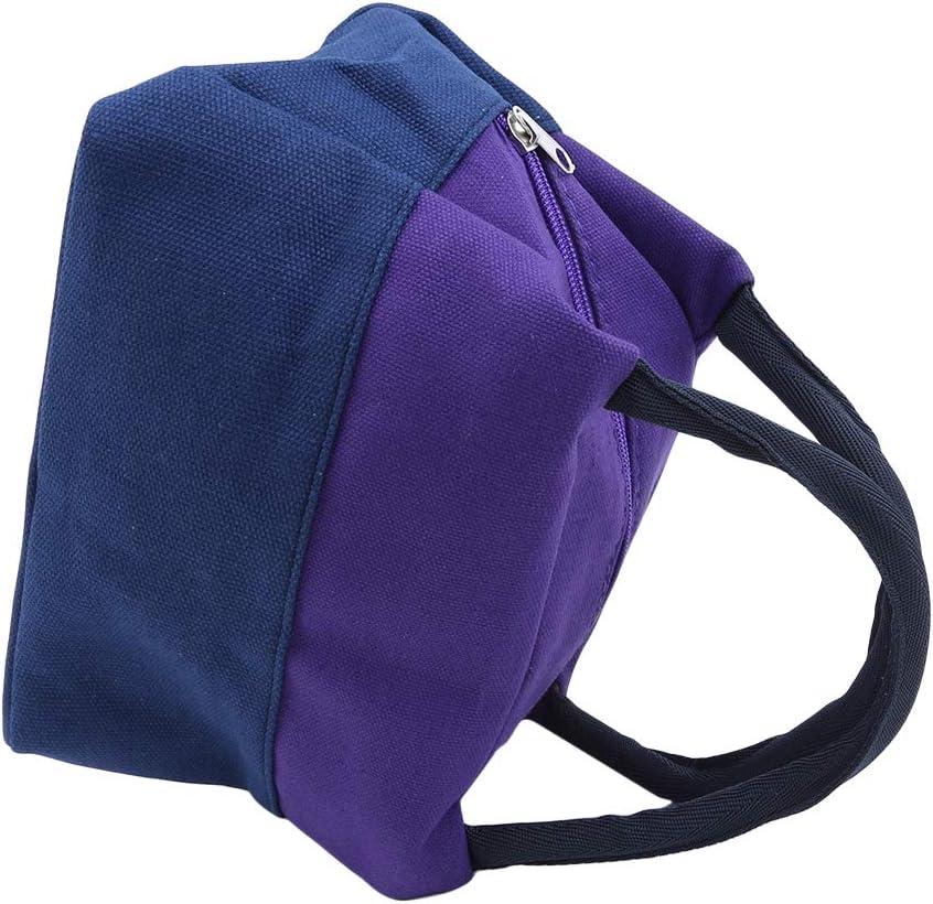 Yeucan Isol/é Lunch Bag Cool Bag pour Lunch Boxes Striated Imperm/éable Pique-Nique Sac /À Main pour WomenOrange
