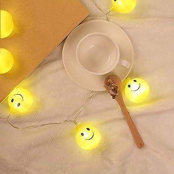 Weihnachtsbeleuchtung Glühlampen.Prevently Ball Smiley Gesicht Lichterkette Emoji Smiley Glühlampen