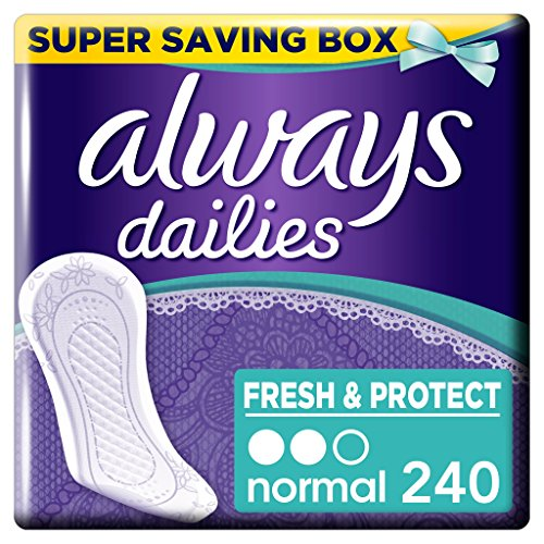 Always Dailies Fresh and Protect Panty Liners Normal 4 x 60 - Super Saving...
