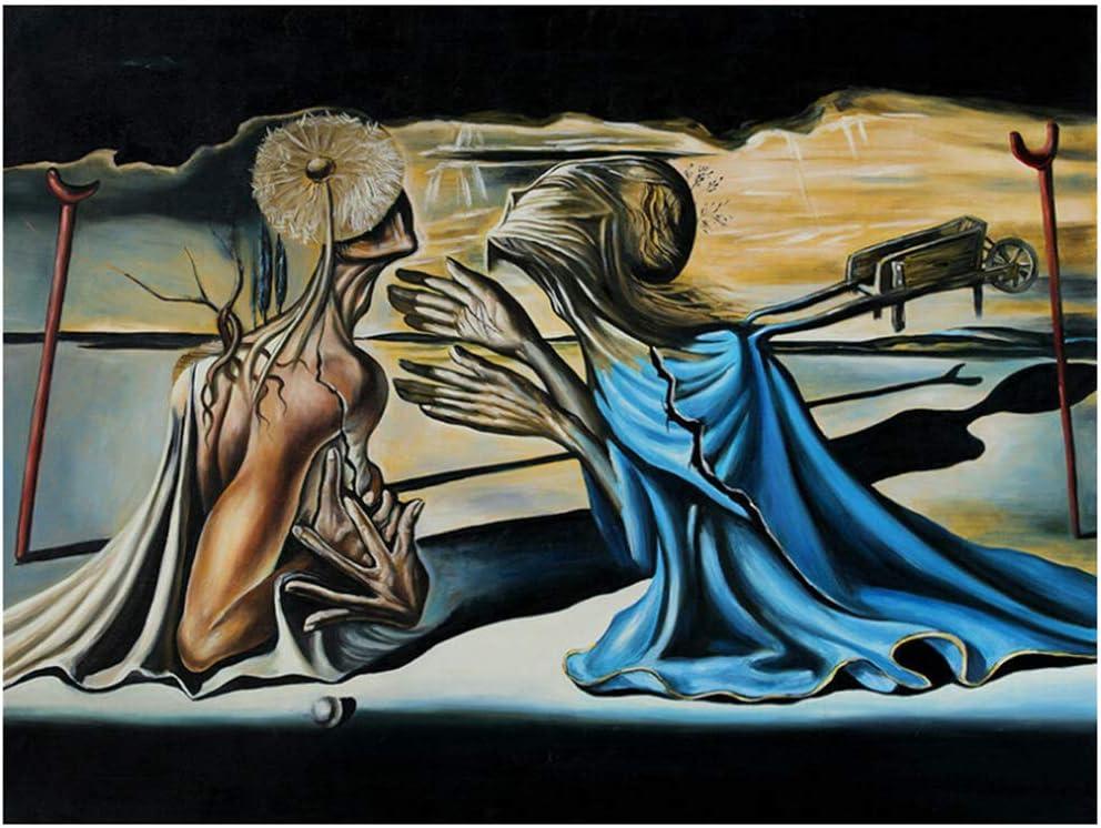 Salvador Dali Tristán e Isolda giclée de arte de la pintura Impresiones Arte de la pared para la sala de estar Dormitorio Decoración-50x80cm Sin marco