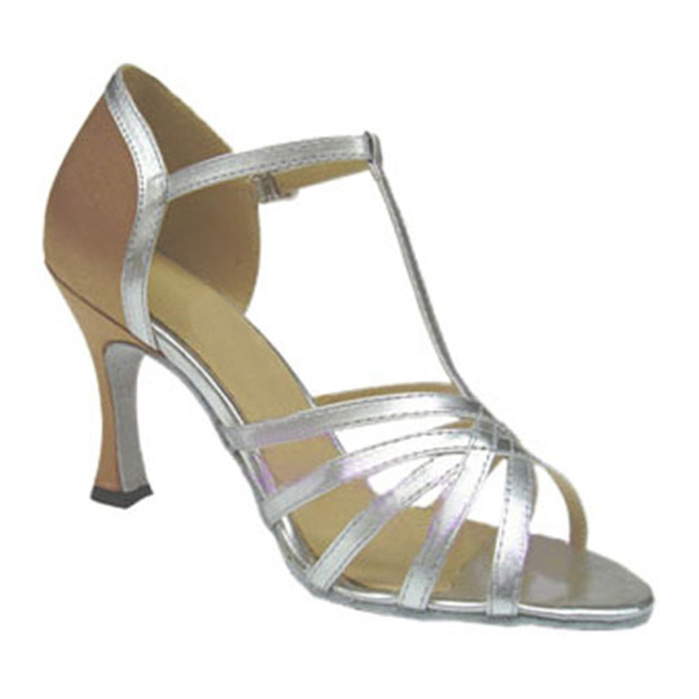 BYLE Leder Sandalen Riemchen Samba Modern Jazz Tanzen Schuhe Sommer Nach Latin Tanzen Schuh Riemchen Schuhe Silber