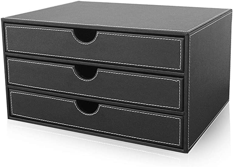 Office Supplies File cabinet File Cabinets Desktop A4 Aluminum Alloy Data Cabinet with Lock Drawer Desktop Cabinet File Storage Cabinet Storage Box Design: 7 Layers