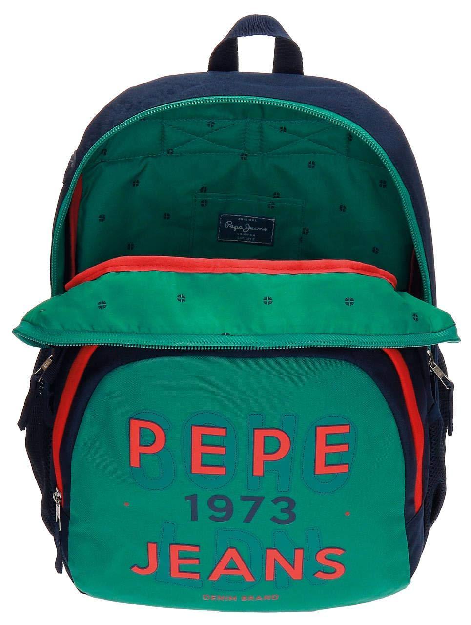 Pepe Jeans 6412451 Reed Mochila Escolar, 23.94 litros, Color Verde: Amazon.es: Equipaje