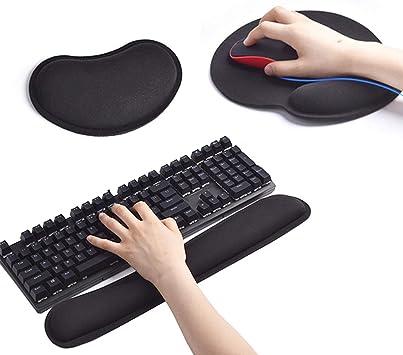 Reposamuñecas para teclado y alfombrilla de ratón ...
