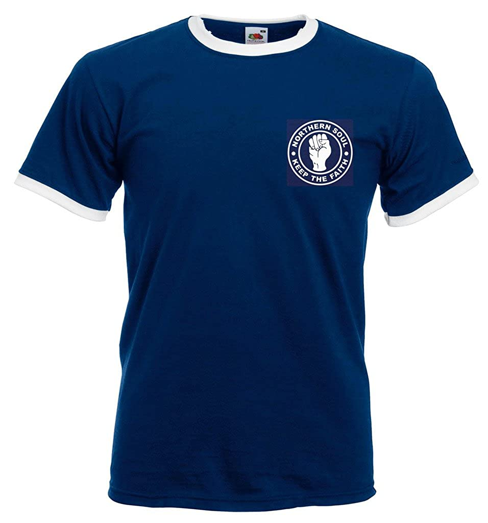 bf3b6f30 zappatee Northern Soul - Keep The Faith T Shirt: Amazon.co.uk: Clothing