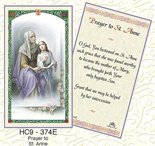 - St. Anne Paper Prayer Cards - Pack of 100 - HC9-374E-L