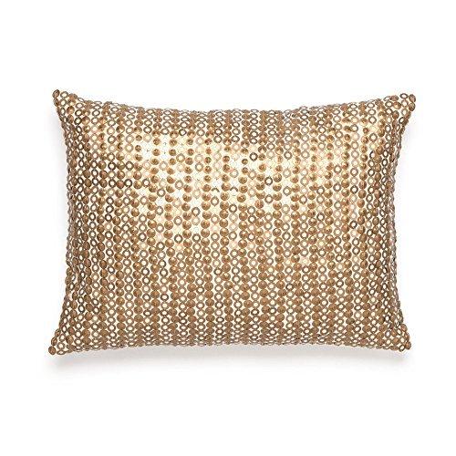 Amy Sia Midnight Storm Gold Sequin Decorative Pillow [並行輸入品] B07R82N7NF