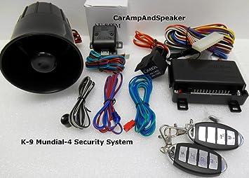 nd New Omega K9 Mundial-4 (New Version) Car Alarm with Keyless Remote Omega Keyless Entry Wiring Diagram on