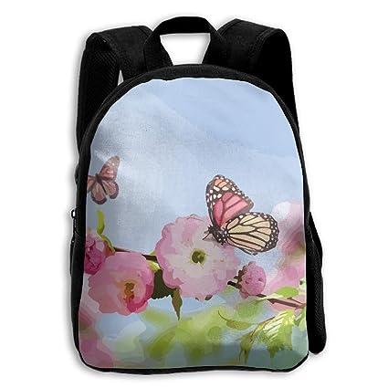 Mochila Pequeña con Diseño de Flores Rosas de Limón d7e20401e437a