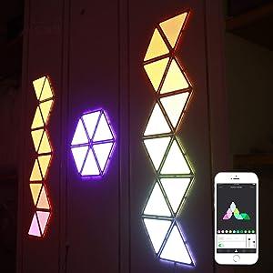 Smart LED Light Panels - Led Wall Light Smart Lamp Combine Night Lights for Bed Rooms Home DIY Creative Decoration,9 pcs Complete Set