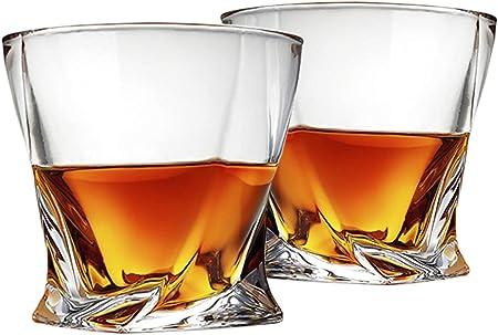 Unique Twist Design: Pure y transparente son las características de los vasos de whisky Cooko, no ha