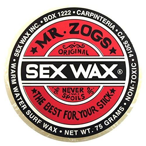 Mr. Zogs Original Sexwax - Warm Water Temperature Coconut Scented (White) (Sex Wax Sticker)