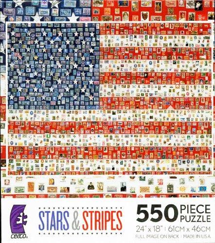 Campaign Button Flag 550 Piece Jigsaw Puzzle