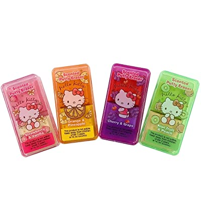 Sanrio JP Hello Kitty Fabulous Scented Putty Erasers Set of 4 Made in Japan: Toys & Games