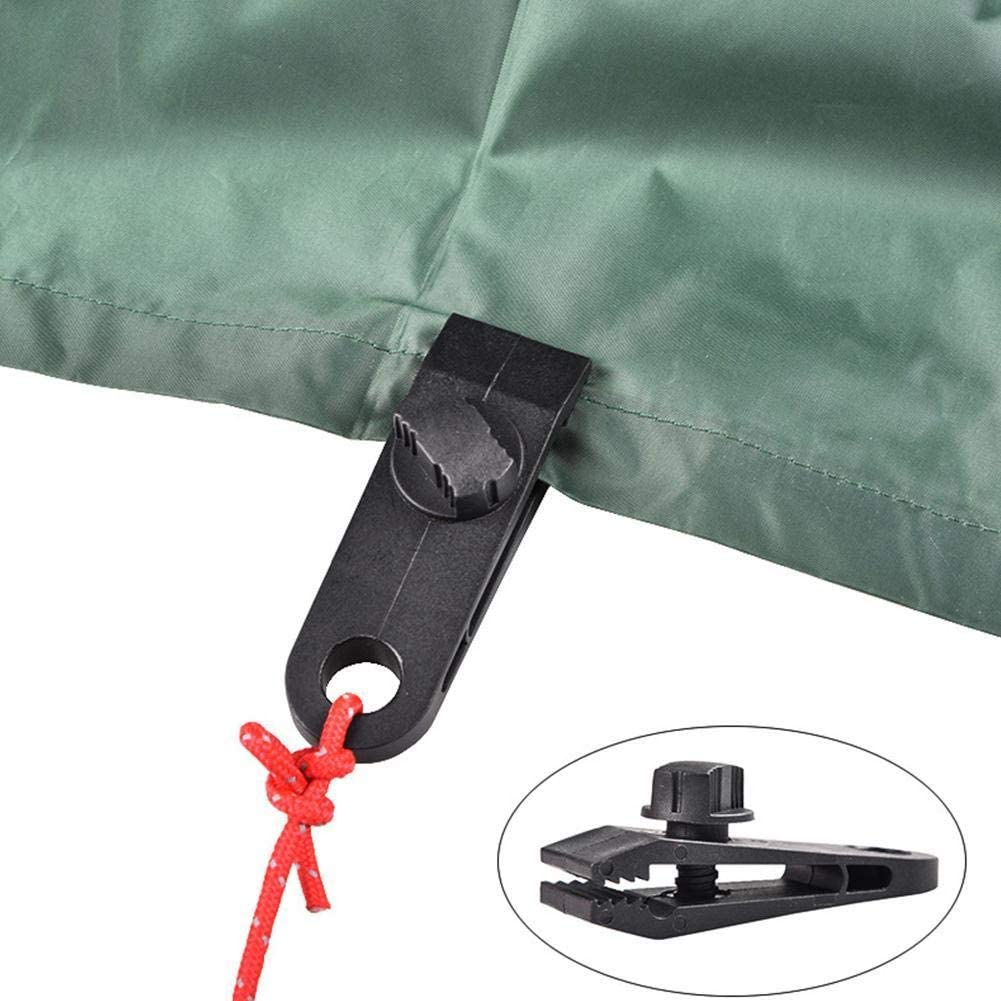 Msugar 1PCS//3PCS Tent Clip Adjustable Plastic Heavy Duty Windproof Awning Clamp Outdoor Camping Tent Alligator Clip