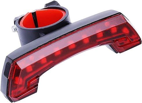 Luces traseras de Ciclismo, Luz Trasera para Bicicleta LED Recargable USB, luz de Bicicleta LED Roja de Alta Intensidad para Cualquier Bicicleta de Carretera para Máxima Seguridad de Ciclismo: Amazon.es: Deportes y