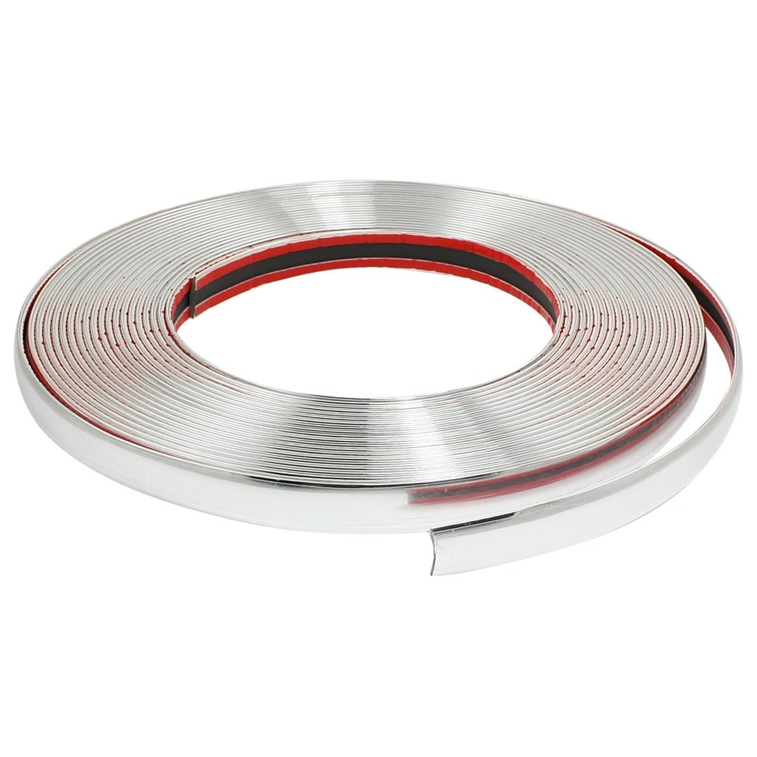 uxcell® Car Decorative Chrome Moulding Trim Strip Silver Tone 15M x 10mm