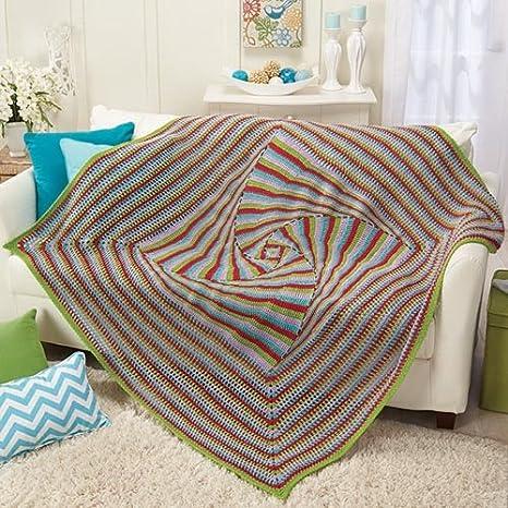 Herrschners Zany Square Afghan Crochet Afghan Kit