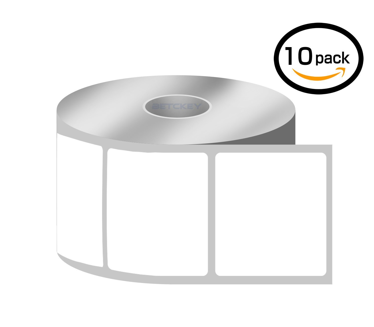 [6 Rolls, 250/Roll] 4 x 6 Direct Thermal Zebra/Eltron Compatible Labels - Premium Resolution & Adhesive BETCKEY